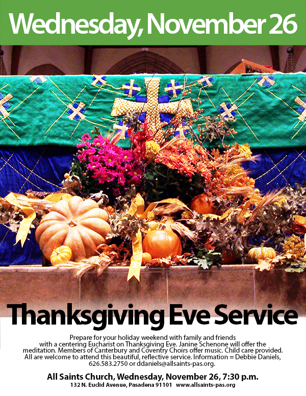 Thanksgiving Eve 2014